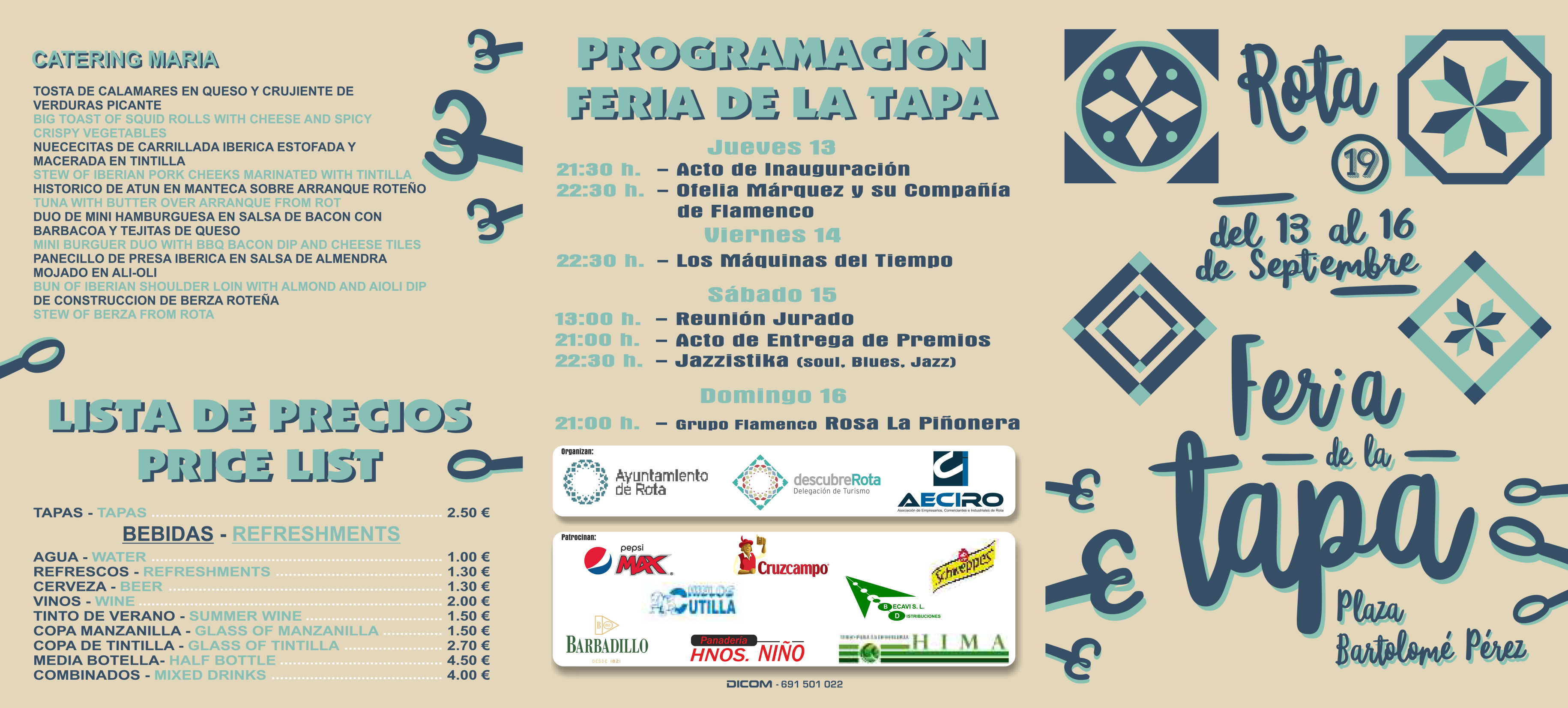 Folletto XIX Feria de la Tapa - Hoja 1